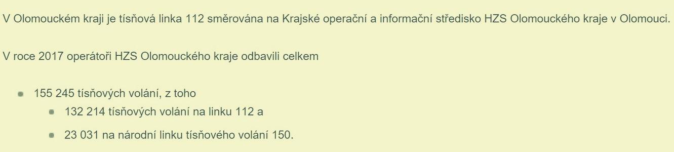sdělení HZS Olk