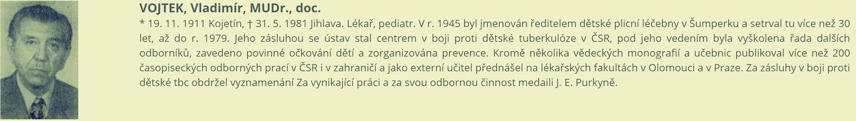 Doc. MUDr. Vladimír Vojtek, CSc., zdroj: VMŠ