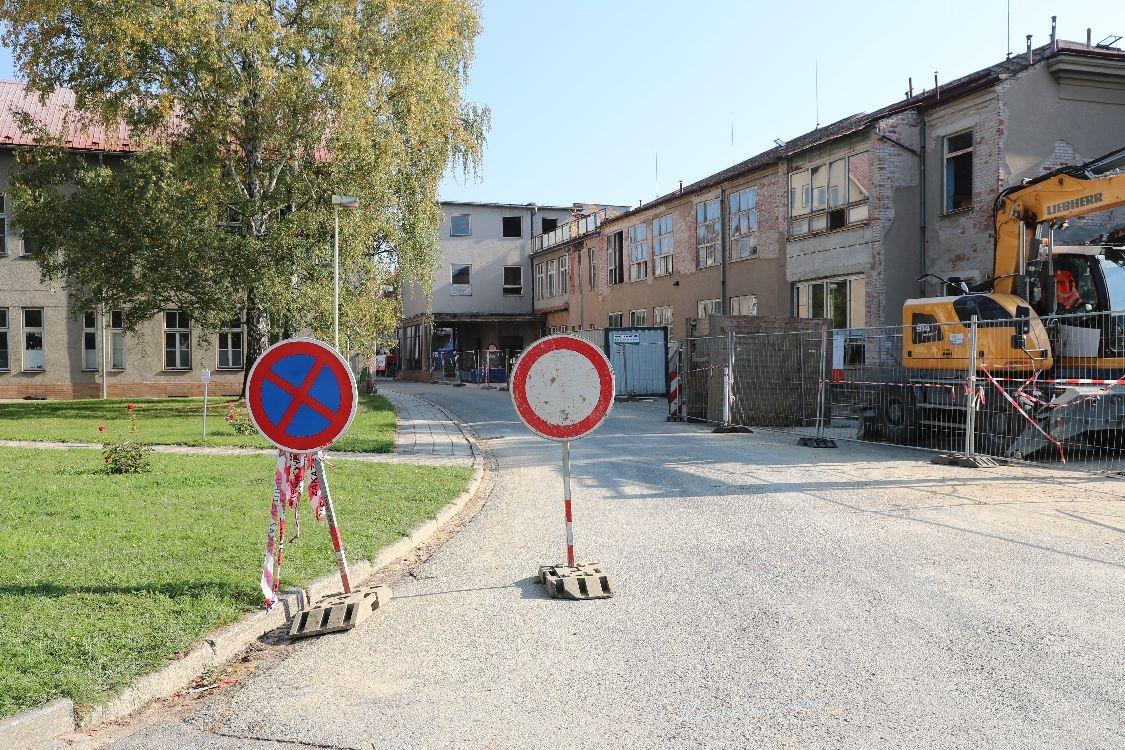 Nemocnice Šumperk - rekonstrukce pavilonu staré chirurgie foto: archiv šumpersko.net - M. Jeřábek