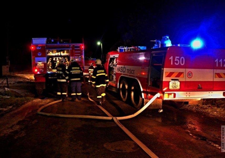 požár RD Tršice