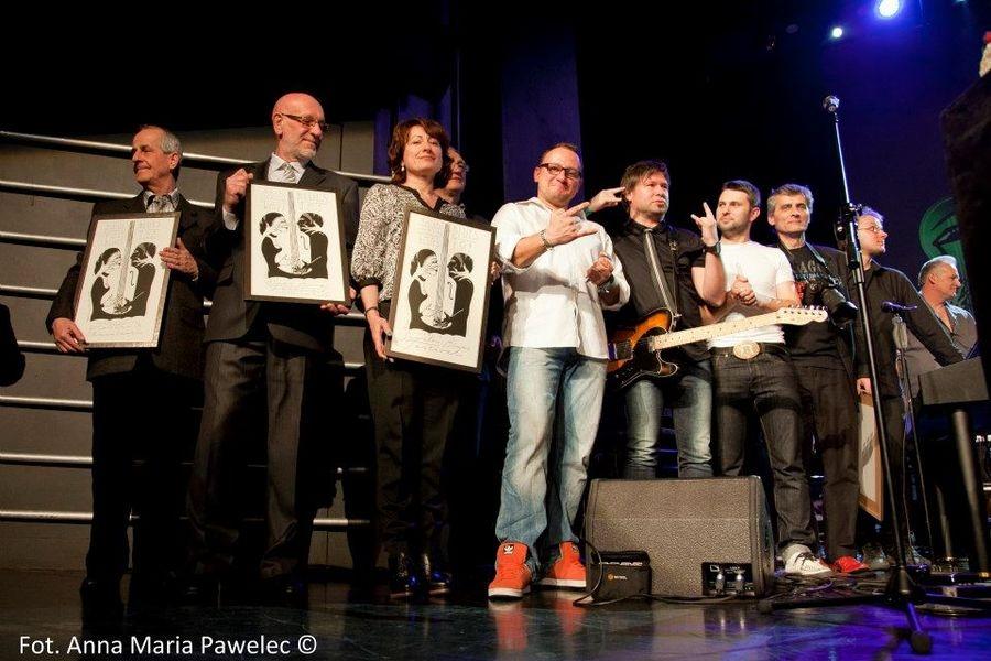 Ředitel festivalu Blues Alive Vladimír Rybička spolu s dalšímu laureáty