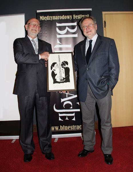 Ředitel festivalu Blues Alive Vladimír Rybička s Andrzejem Matysikem, vydavatelem časopisu Twoj Blues.