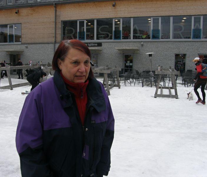 MVDr. Franková před posledním startemDogtrekkingu v Jeseníkách