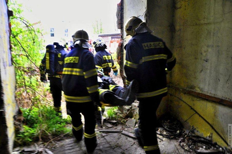 cvičení složek IZS Zábřeh na Moravě