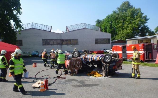 3 cvičení dobrovolných hasičů:foto:HZSOL,ÓU Šumperk