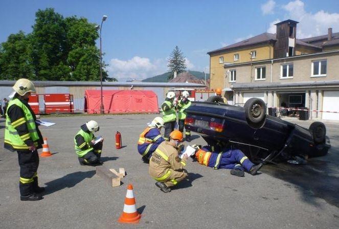4 cvičení dobrovolných hasičů:foto:HZSOL,ÓU Šumperk