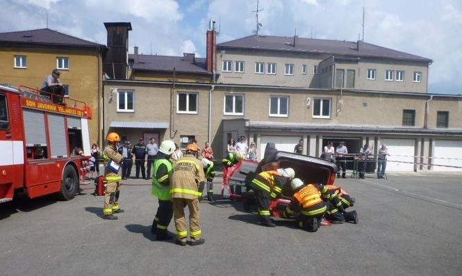 6 cvičení dobrovolných hasičů:foto:HZSOL,ÓU Šumperk