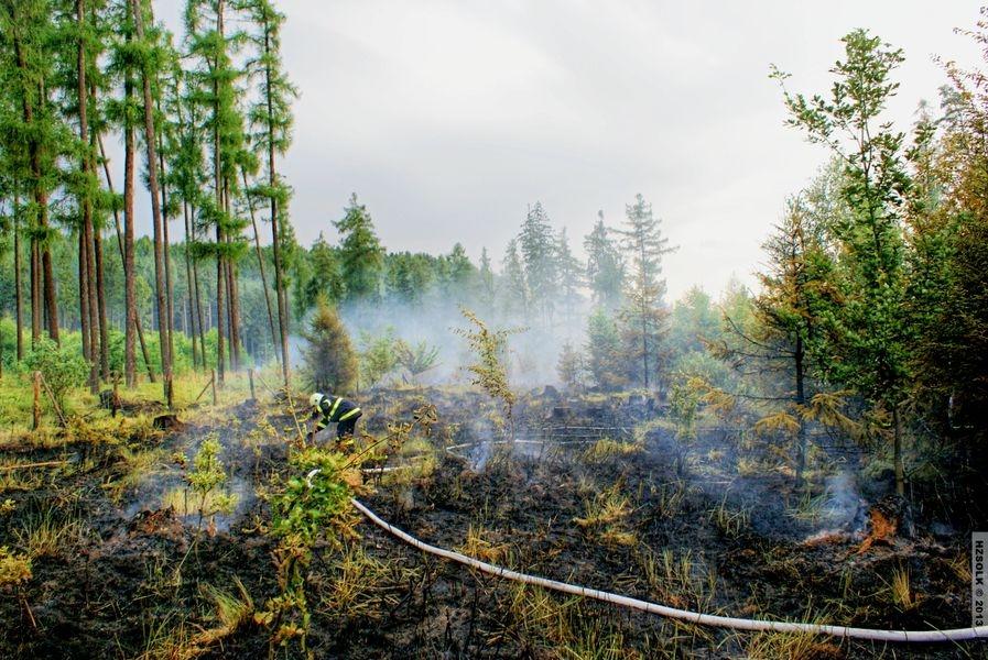 Požár lesa Týn nad Bečvou