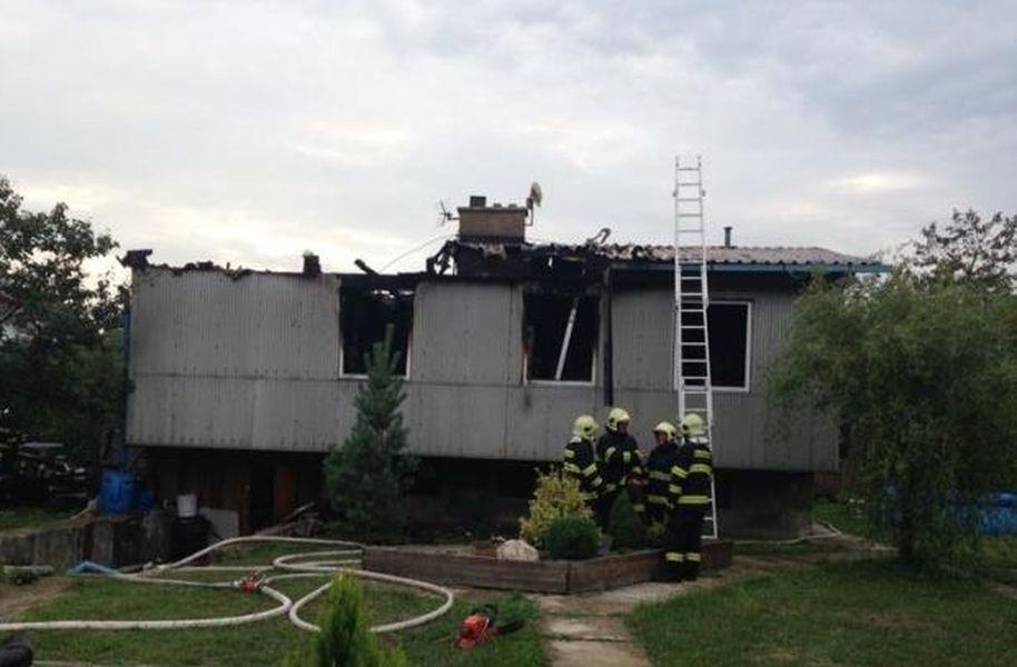 požárem zničený okál v Jestřebí