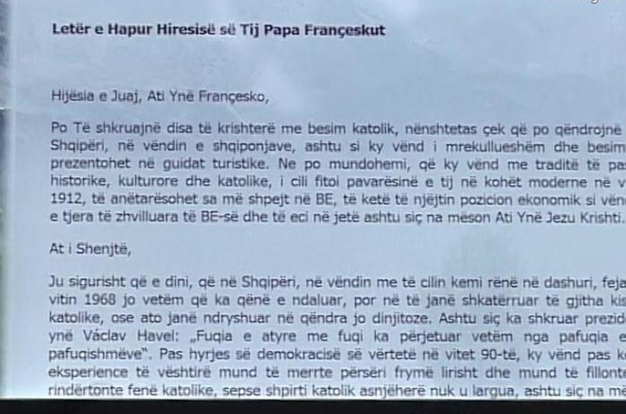 dopis papežovi Františkovi