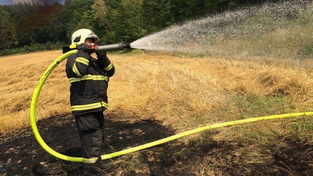 likvidace požáru na Olomoucku