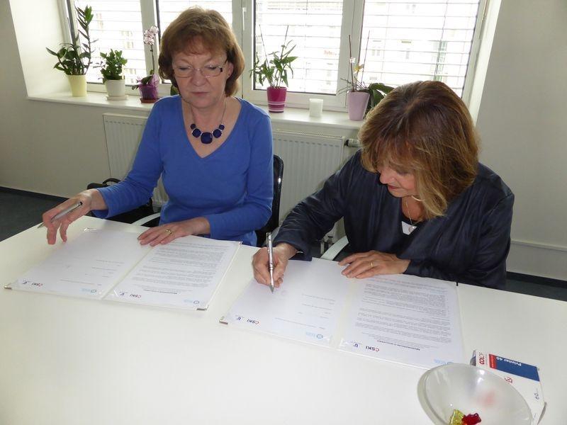 generální ředitelka ÚP ČR Marie Bílková a prezidentka ČSKI Olga Štěpánková
