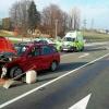 Vážná dopravní nehoda dvou osobních vozidel u Zábřehu