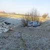 Řidič u Kolšova narazil do zděné měřící stanice