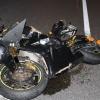 Motorkář havaroval na dálnici D35