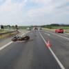 Střet vozidla s motocyklem na Šumpersku