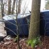 Opilý řidič skončil s vozem pod strání na Šumpersku