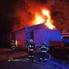 Požár skladovacích hal v Jeseníku