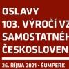 103. výročí vzniku samostatného Československa
